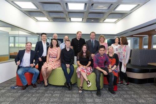 The happy authors at QUT Author Alumni