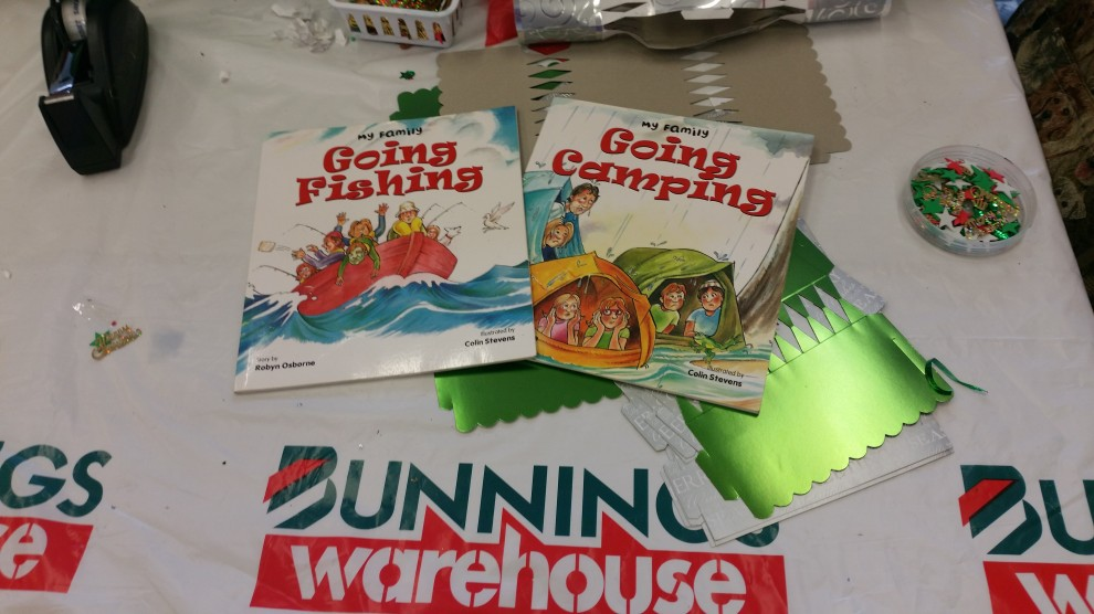 Book reading at Bunnings, Gympie